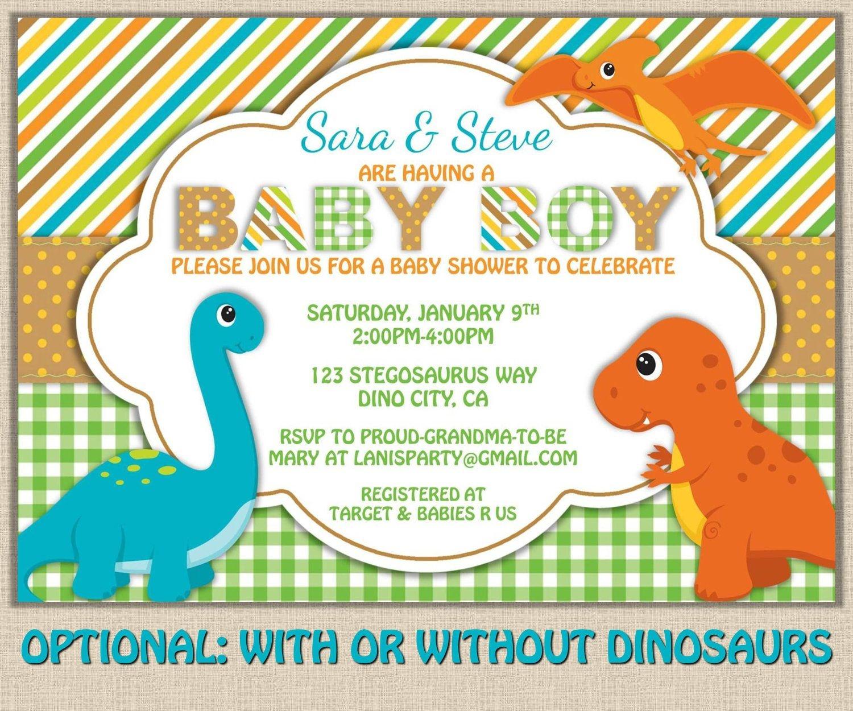 Free Printable Dinosaur Baby Shower Invitation | My Kaden In 2019 - Free Printable Dinosaur Baby Shower Invitations