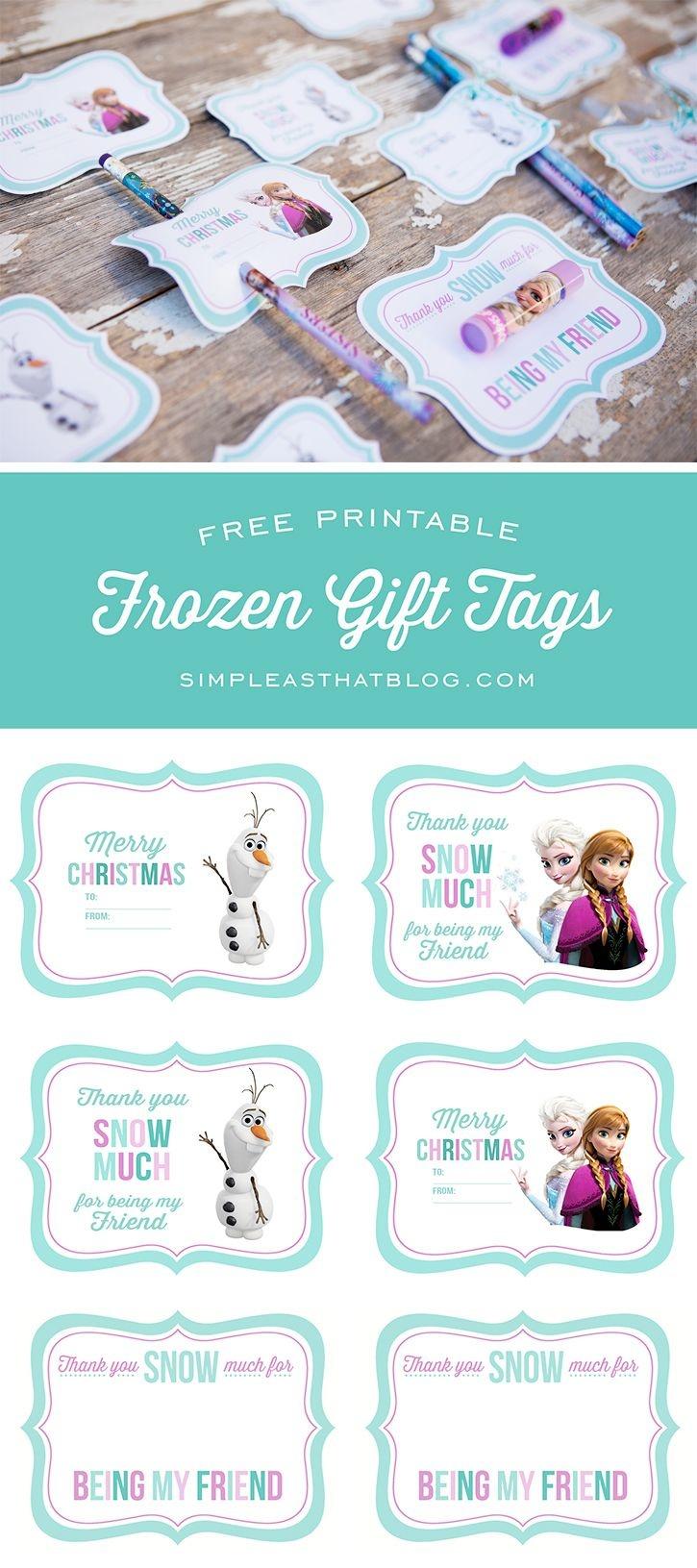 Free Printable Disney Frozen Gift Tags | Free Printables | Frozen - Party Favor Tags Free Printable