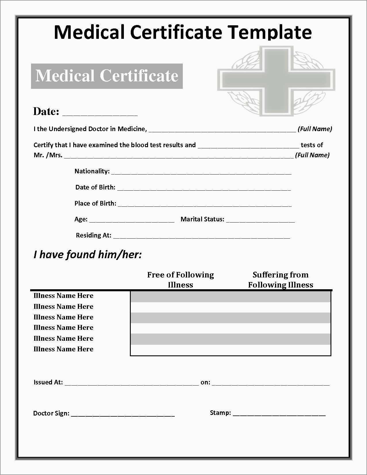 Free Printable Doctors Notes Templates Best Free Printable Doctors - Free Printable Doctor Excuse Notes