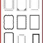 Free Printable Doodle Frames   Bullet Journal Template   Freebie   Free Printable Photo Frames