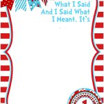 Free Printable Dr Seuss Birthday Invitations | Free Printable   Dr Seuss Free Printable Templates