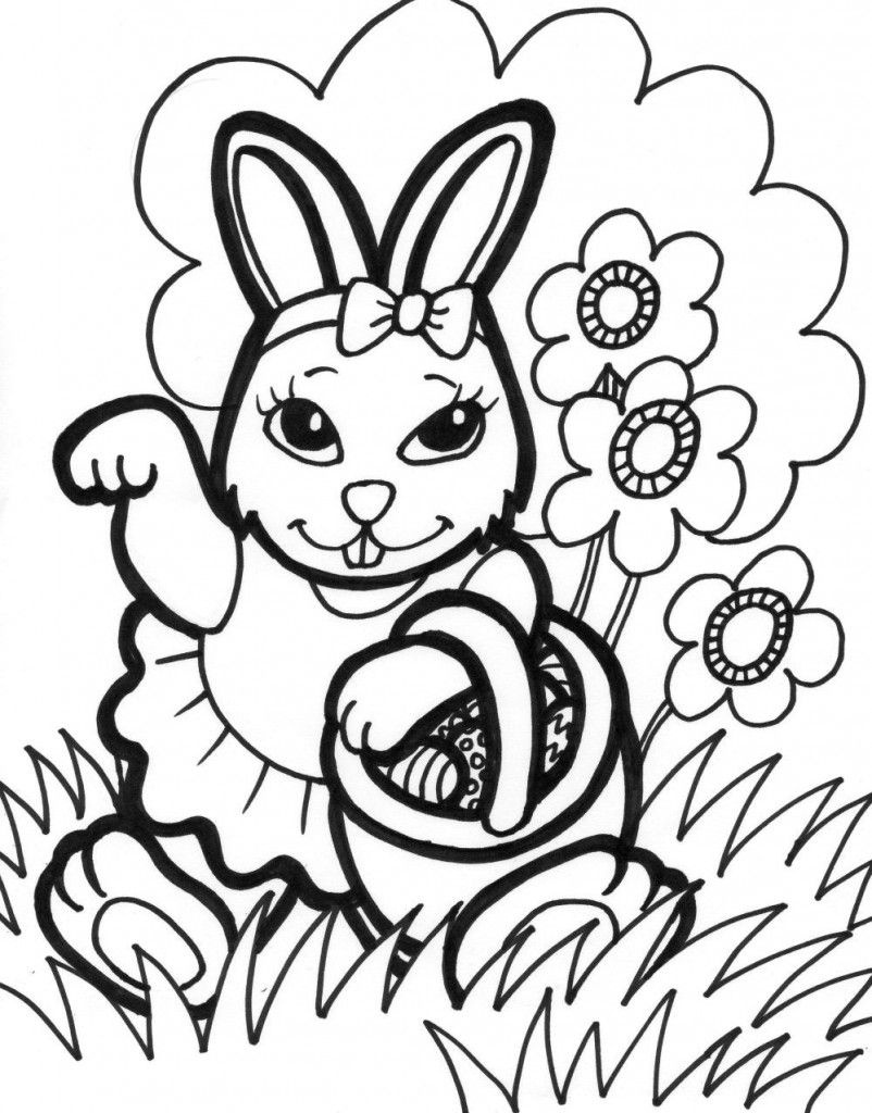 Free Printable Easter Bunny Coloring Pages For Kids | Easter | Bunny - Free Printable Easter Pages