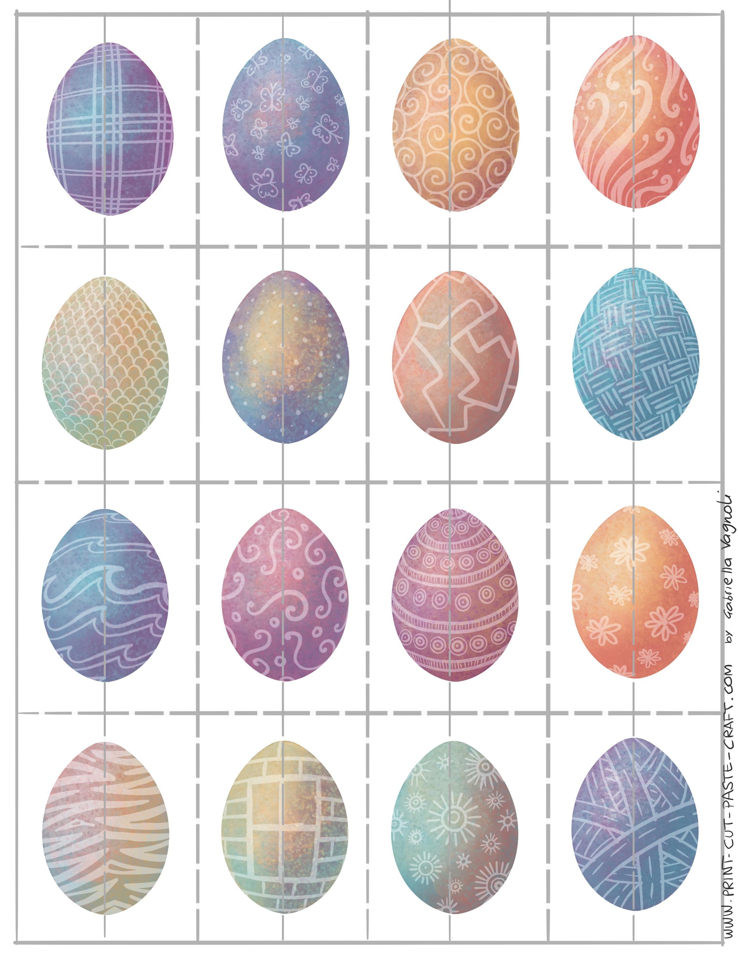 Free Printable Easter Egg Matching Game | Print, Cut, Paste, Craft! - Free Printable Matching Cards