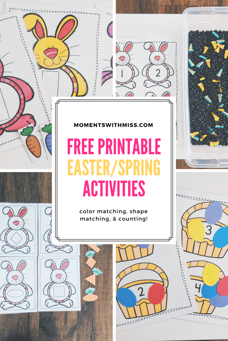 Free Printable Easter/spring Activities — Moments With Miss - Free Printable Toddler Matching Games
