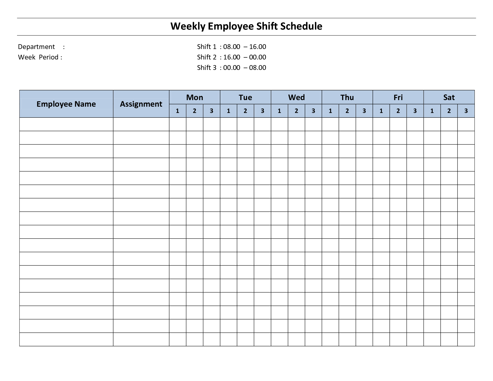 Free Printable Employee Work Schedules | Weekly Employee Shift - Free Printable Business Hours Sign