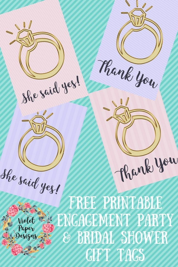 Free Printable Engagement Ring Gift Tags | Planners, Printables And - Party Favor Tags Free Printable
