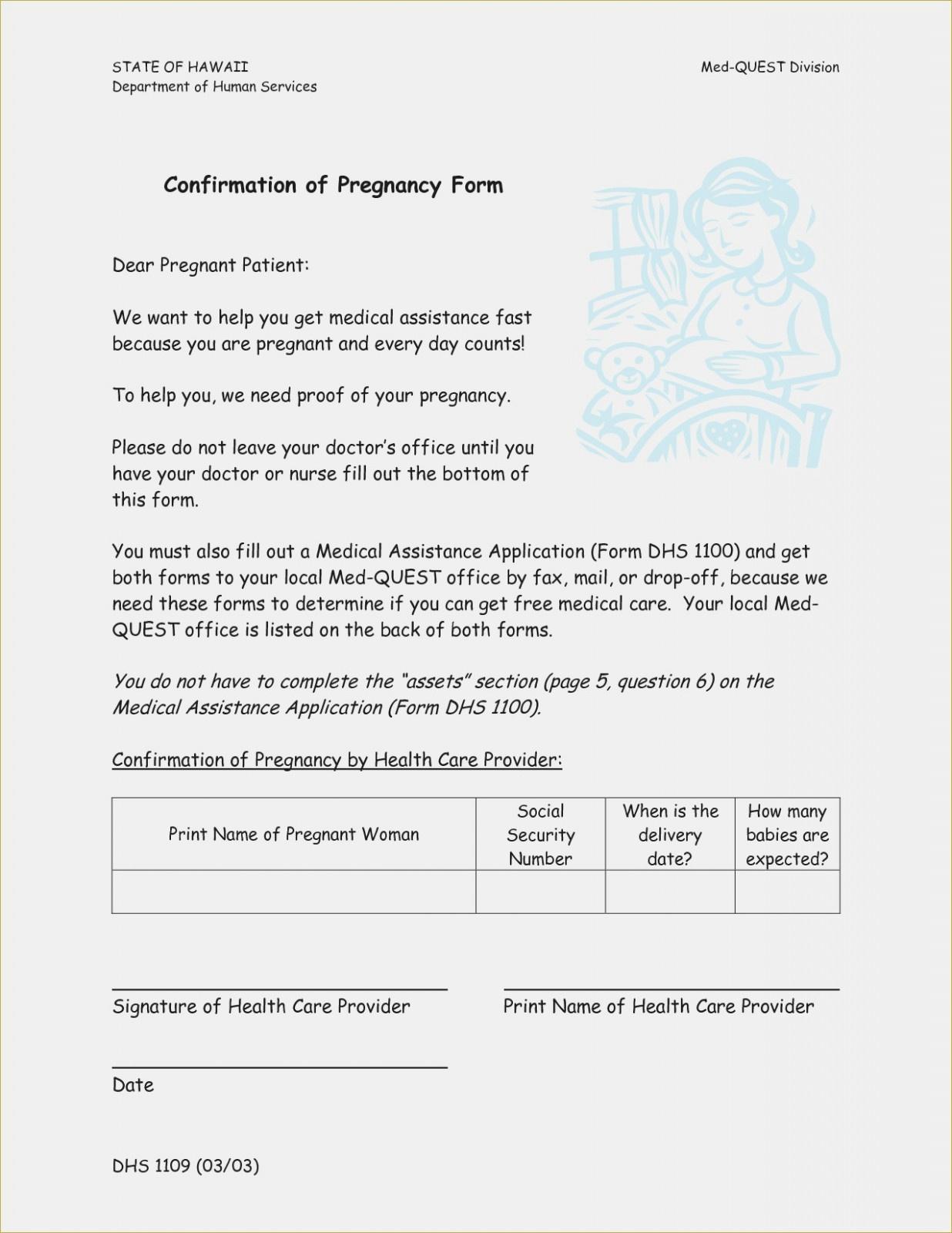 Free Printable Fake Pregnancy Papers | Sample Documents – Proof Of - Free Printable Fake Pregnancy Papers