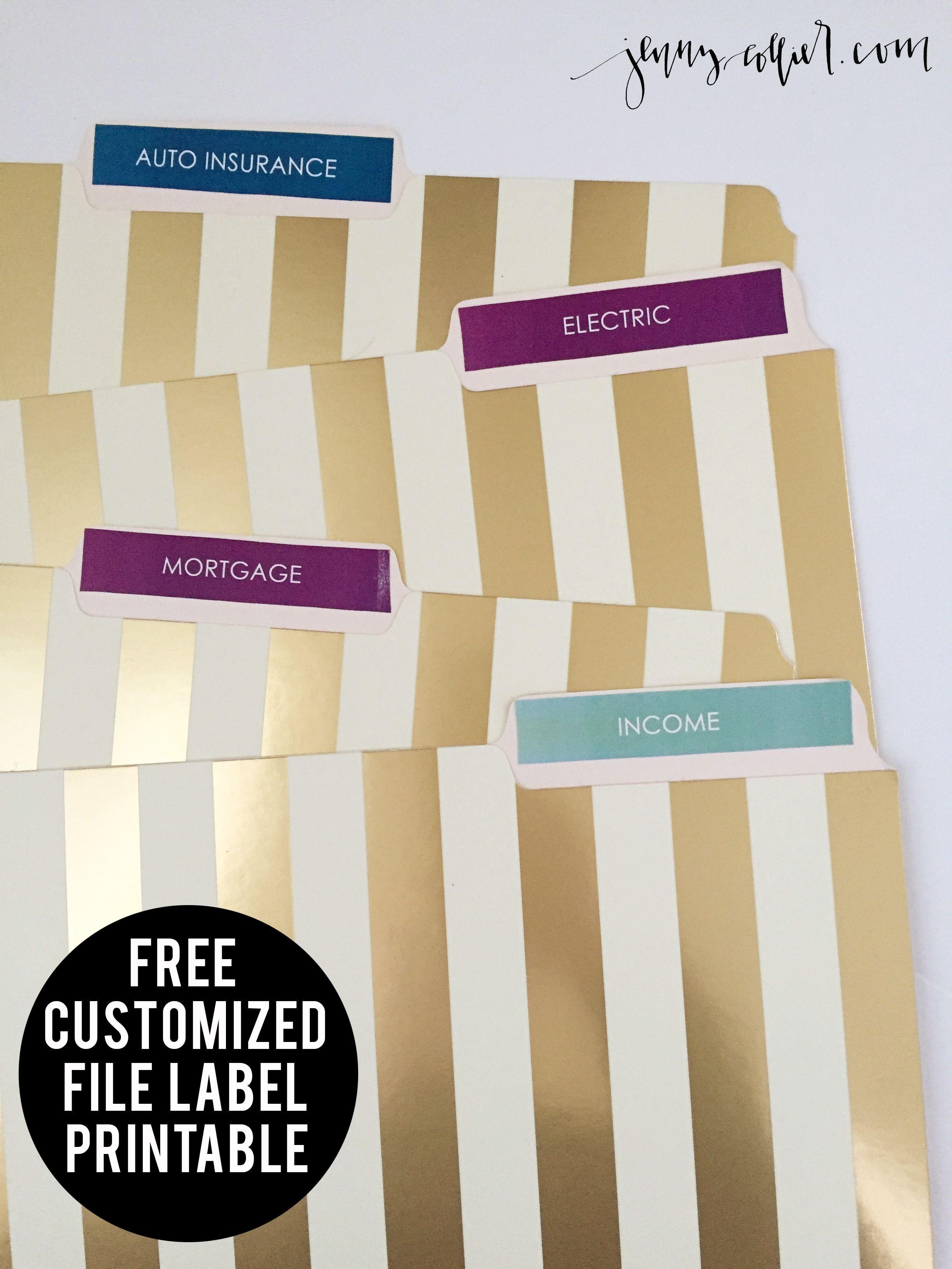 Free Printable File Labels | Make It: Planner/filofax | Paper - Free Printable File Labels