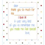 Free} Printable Fill In The Blank Thank You Note (Polka Dots) | Misc   Free Printable Thank You Notes