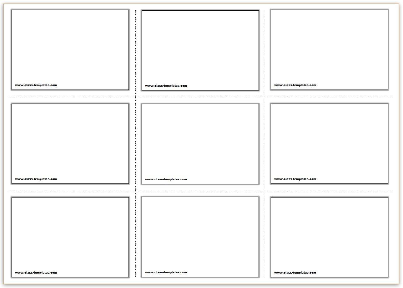 Free Printable Flash Cards Template - Free Printable Flash Card Maker Online