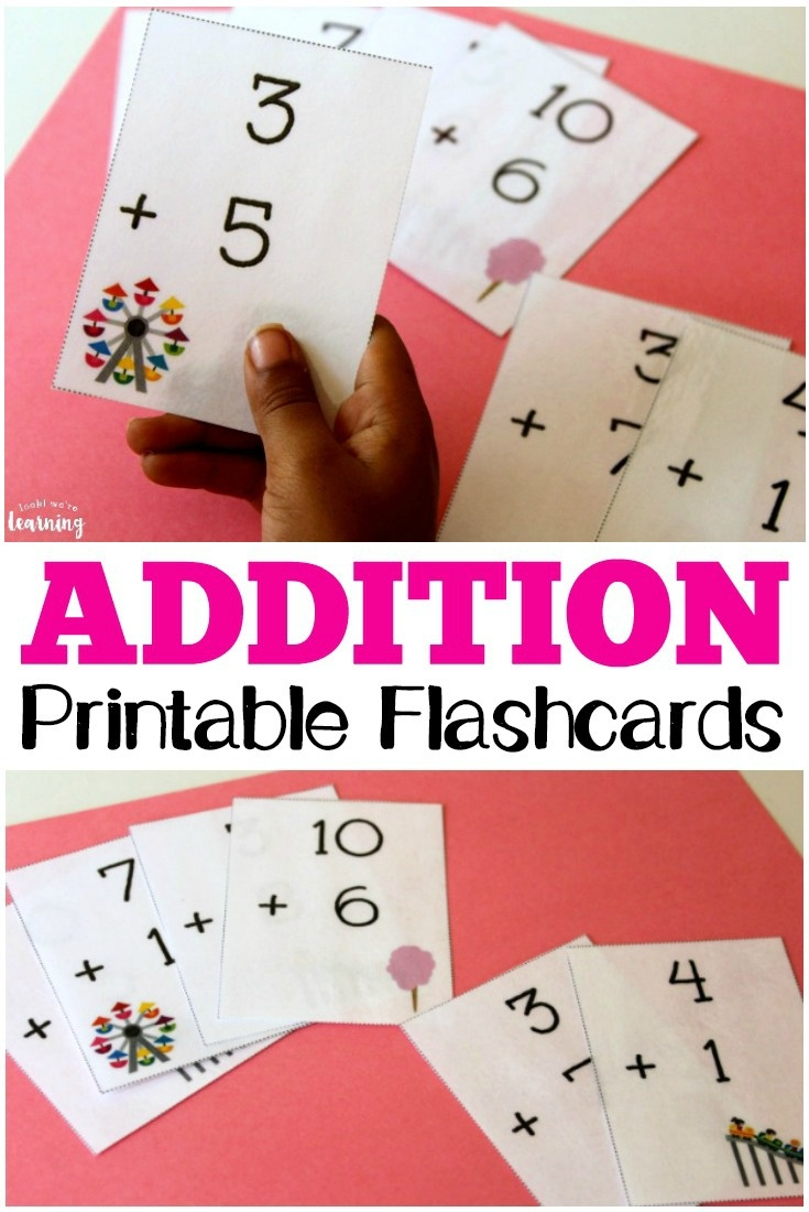 Free Printable Flashcards: Addition Flashcards 0-10 - Free Printable Math Flashcards Addition