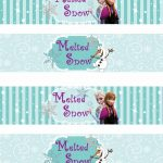 Free Printable Frozen Labels.   Is It For Parties? Is It Free? Is It   Frozen Birthday Banner Printable Free