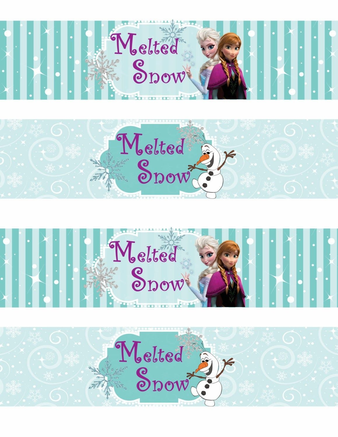 Free Printable Frozen Labels. - Is It For Parties? Is It Free? Is It - Frozen Birthday Banner Printable Free