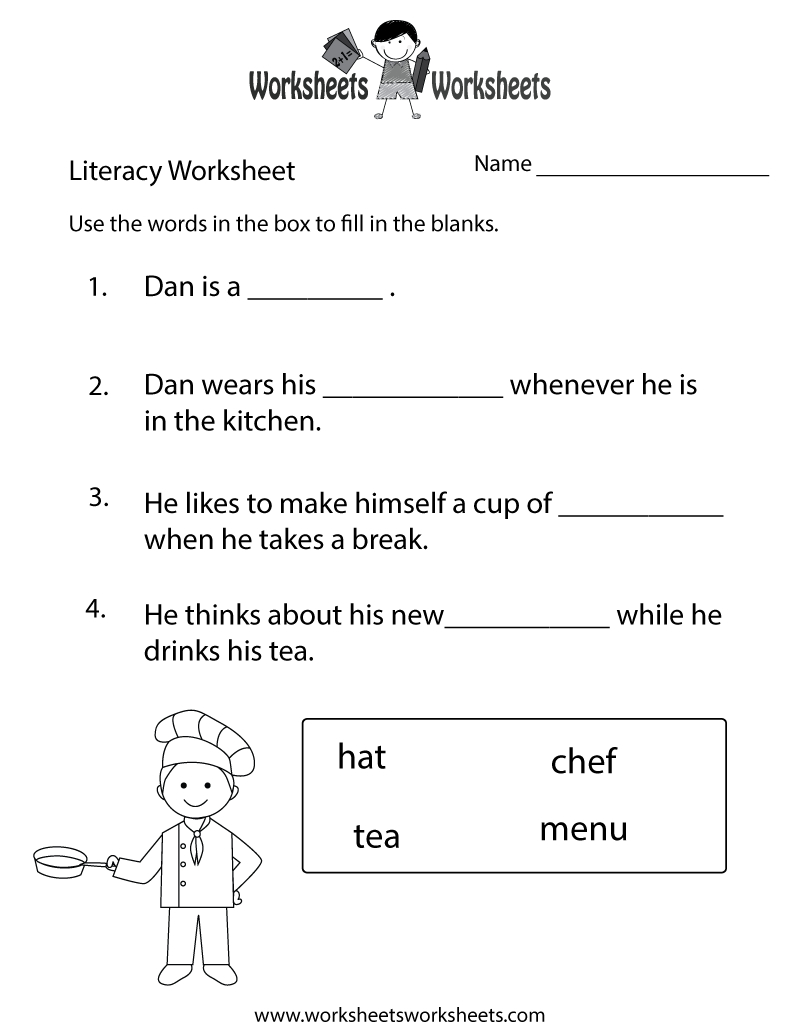 Free Printable Fun Literacy Worksheet - Free Printable Literacy Worksheets For Adults