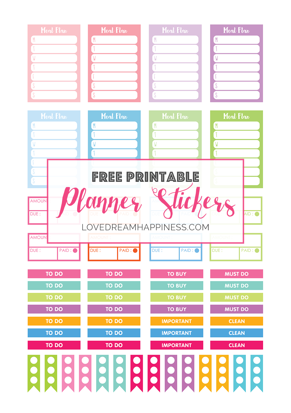 Free Printable Functional Planner Stickers For Your Erin Condren - Printable Erin Condren Stickers Free