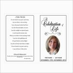 Free Printable Funeral Prayer Card Template Prettier Free Printable   Free Printable Memorial Card Template