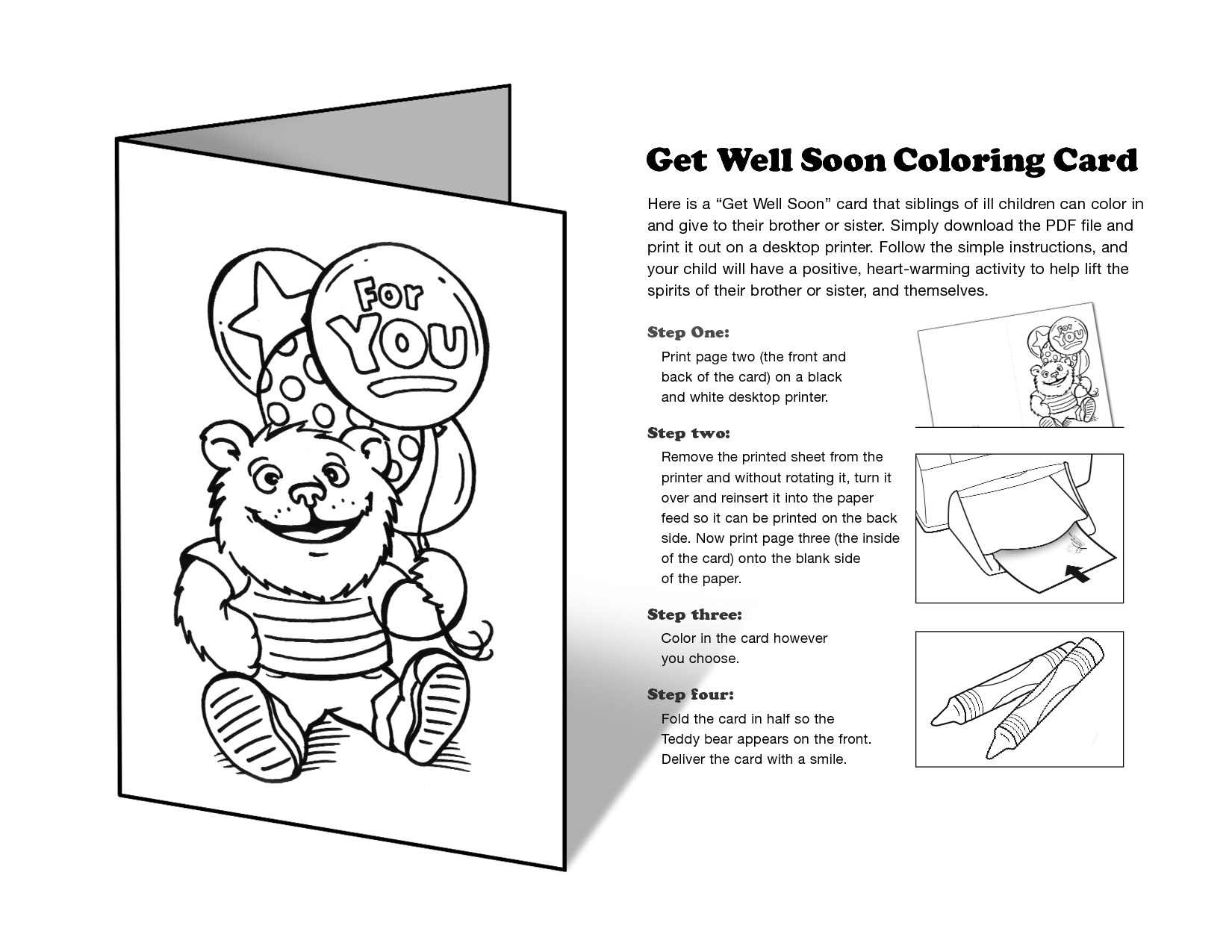 Free Printable Get Well Cards To Color - Printable Cards - Free Printable Get Well Cards