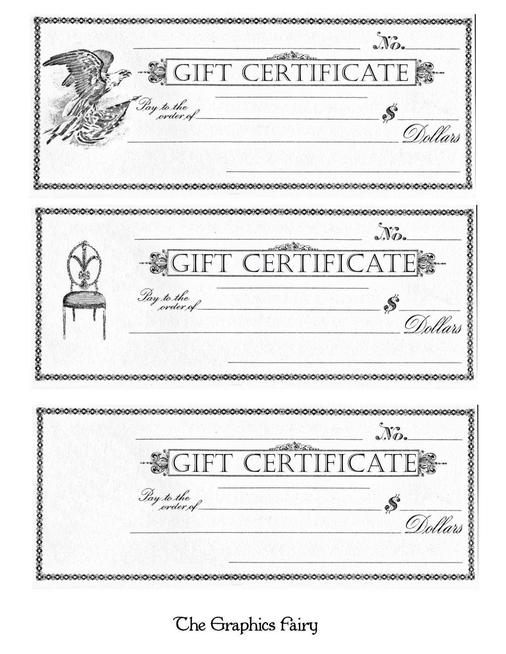 Free Printable - Gift Certificates   Craft Ideas   Free Printable - Free Printable Gift Certificates