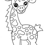 Free Printable Giraffe Coloring Pages For Kids | Easy Art Ideas For   Free Coloring Pages Animals Printable