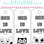 Free Printable God Is Love Coloring Bookmarks For Kids | Mama   Free Printable Bible Crafts For Preschoolers