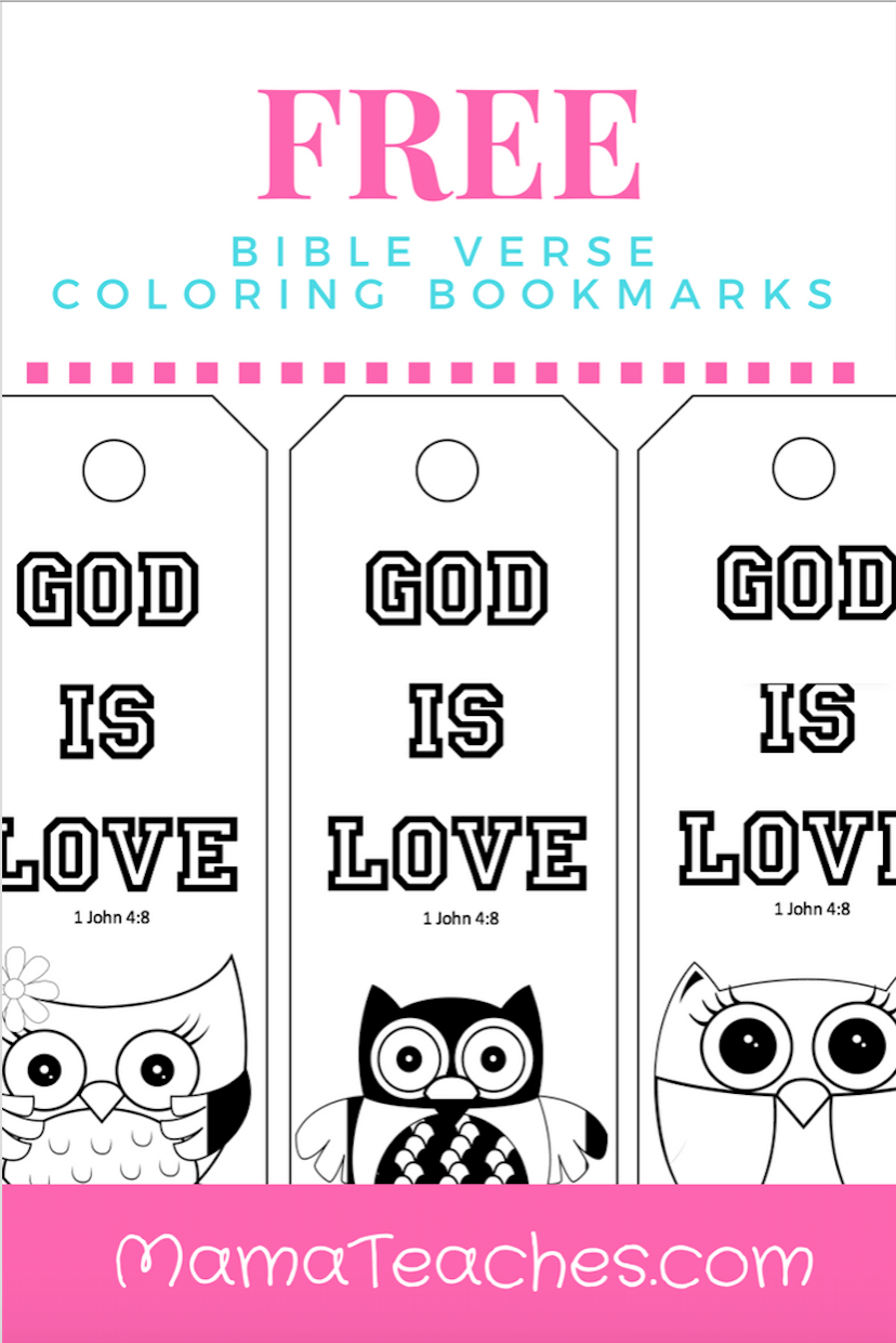 Free Printable God Is Love Coloring Bookmarks For Kids | Mama - Free Printable Bible Crafts For Preschoolers