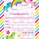 Free Printable Golden Unicorn Birthday Invitation Template   Happy Birthday Invitations Free Printable
