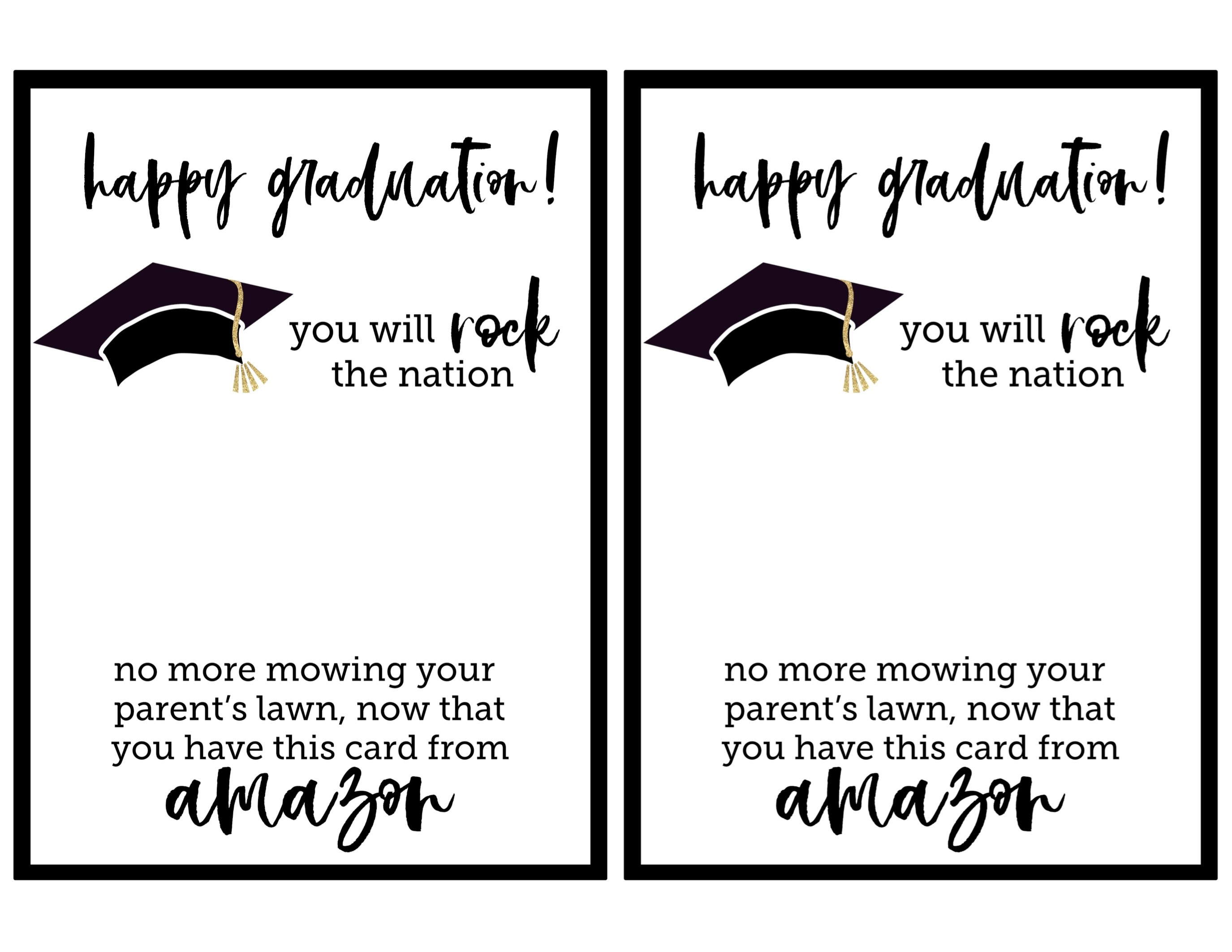 Free Printable Graduation Card - Paper Trail Design - Graduation Cards Free Printable Funny