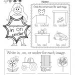 Free Printable Grammar Worksheet For Kindergarten   Free Printable Grammar Worksheets