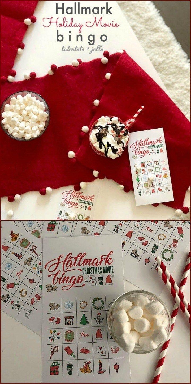 Free Printable Hallmark Channel Holiday Bingo Game Cards | Diy Ho Ho - Free Hallmark Christmas Cards Printable