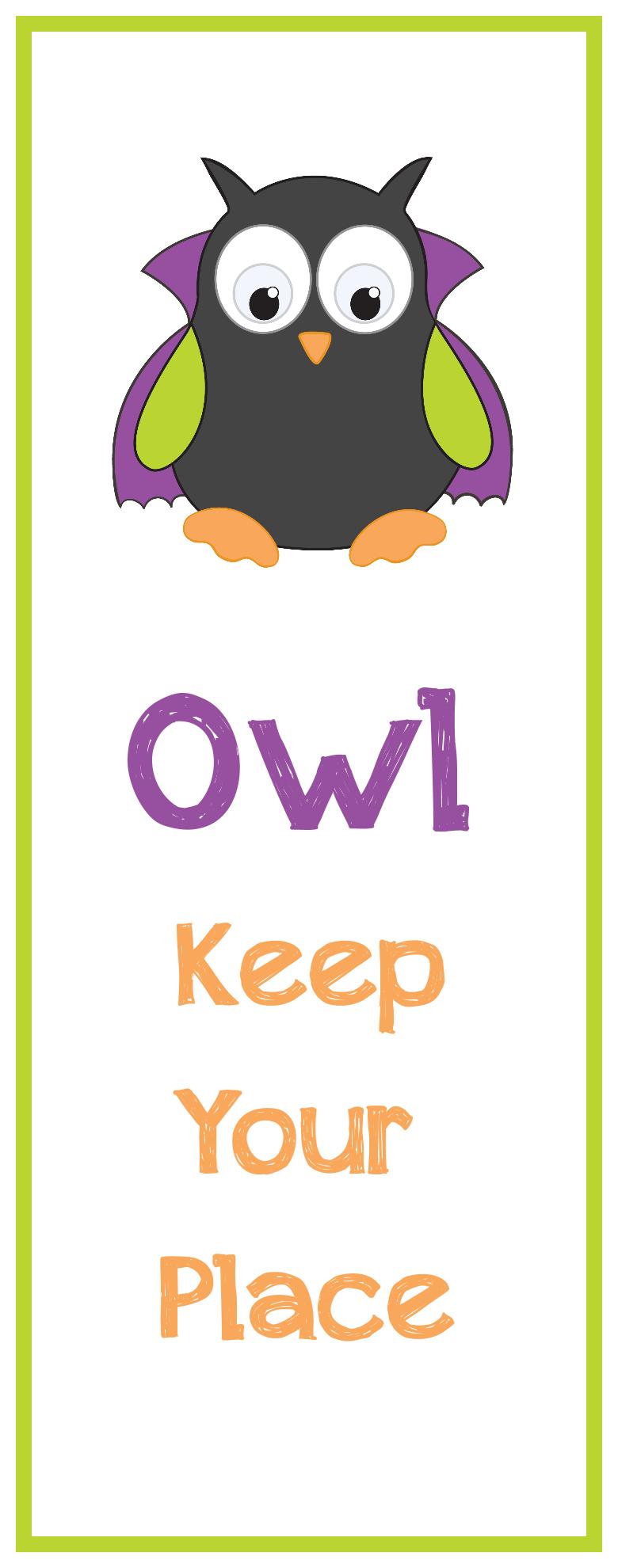 Free Printable Halloween Bookmarks - Free Printable Owl Bookmarks