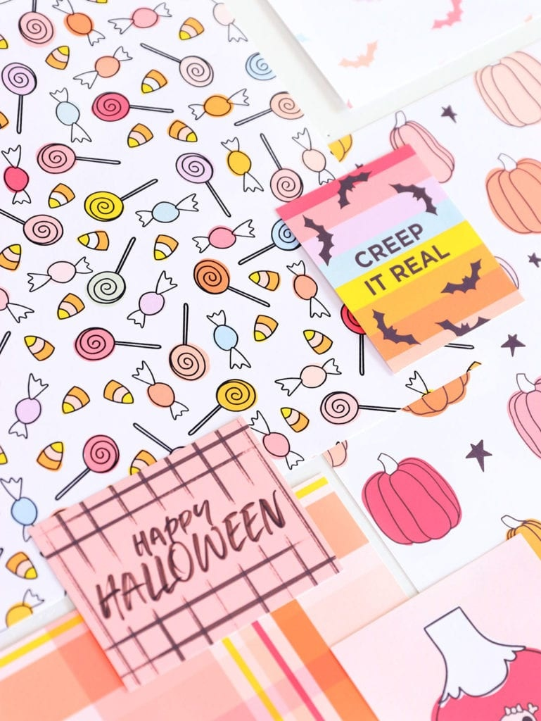 Free Printable Halloween Cardstock With Canon | Damask Love - Free Printable Card Stock Paper
