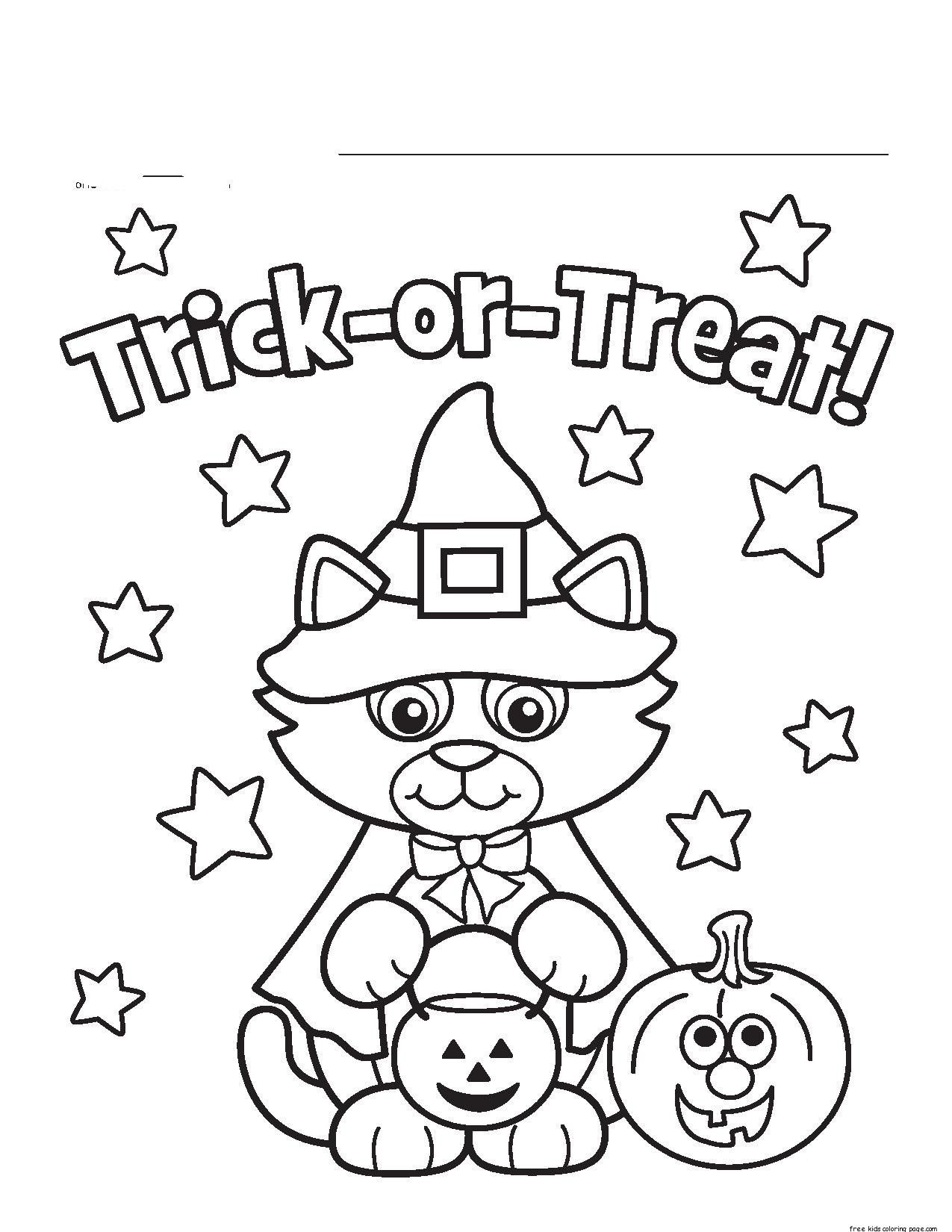 Free Printable Halloween Coloring Pages Kids, Halloween, The - Free Printable Halloween Coloring Pages