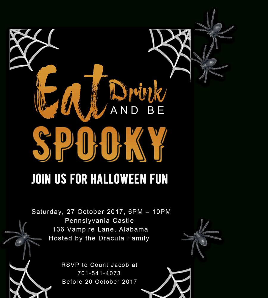 Free Printable Halloween Party Invitations 2018 ✅ [ Template] - Free Printable Halloween Invitations