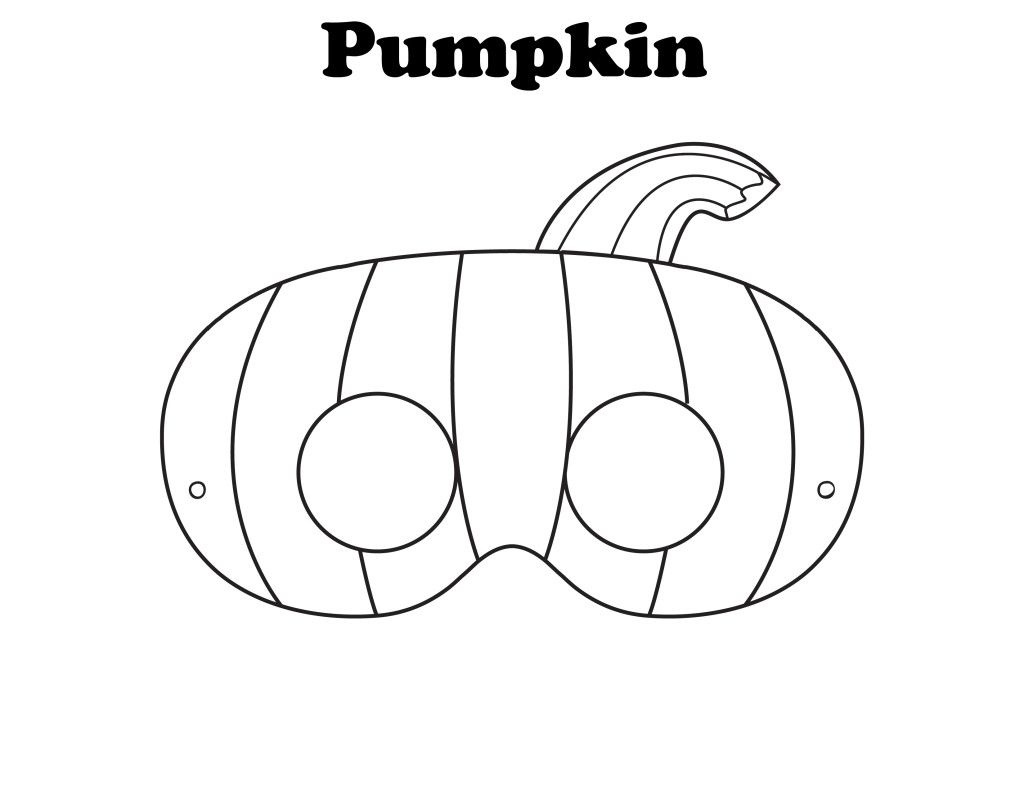 Free Printable Halloween Pumpkin Mask - Ready To Be Colored! | Mops - Free Printable Face Masks
