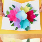 Free Printable Happy Birthday Card With Pop Up Bouquet | Printables   Free Printable Birthday Cards For Mom
