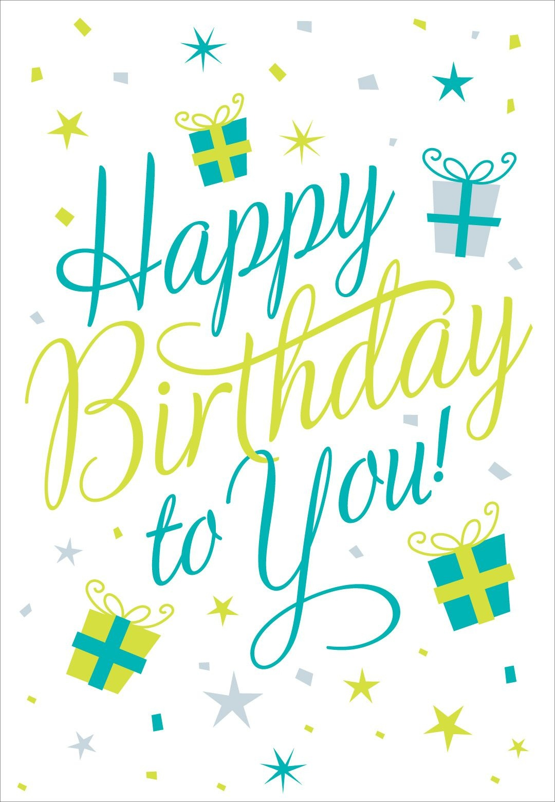 Free Printable Happy Birthday To You Greeting Card #birthday - Customized Birthday Cards Free Printable