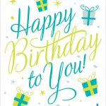 Free Printable Happy Birthday To You Greeting Card #birthday   Happy Birthday Free Cards Printable