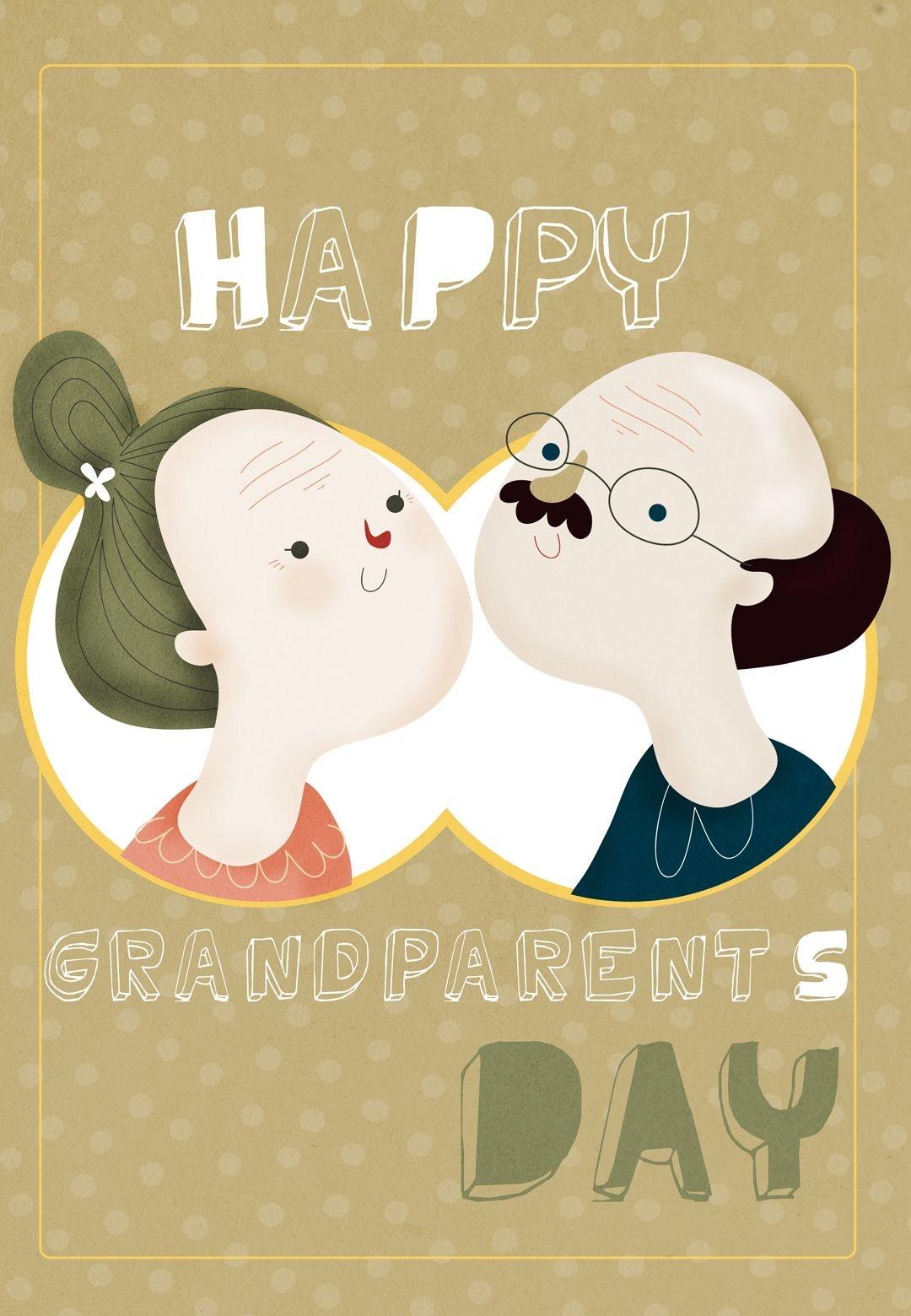 Free Printable Happy Grandparents Day Greeting Card   Grandparents - Grandparents Day Cards Printable Free