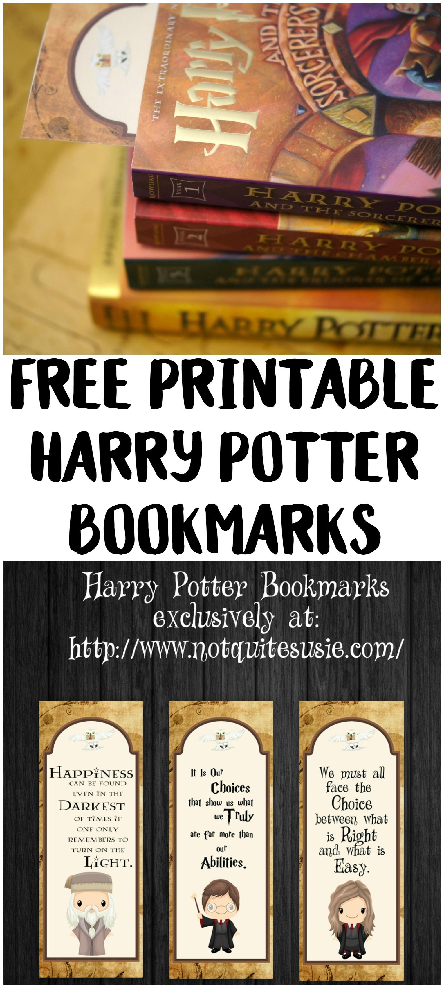 Free Printable Harry Potter Bookmarks   Harry Potter Hogwarts - Free Printable Harry Potter Pictures