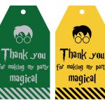 Free Printable Harry Potter Party Favor Gift Tags   Lovely Planner   Free Printable Thank You Tags For Birthdays