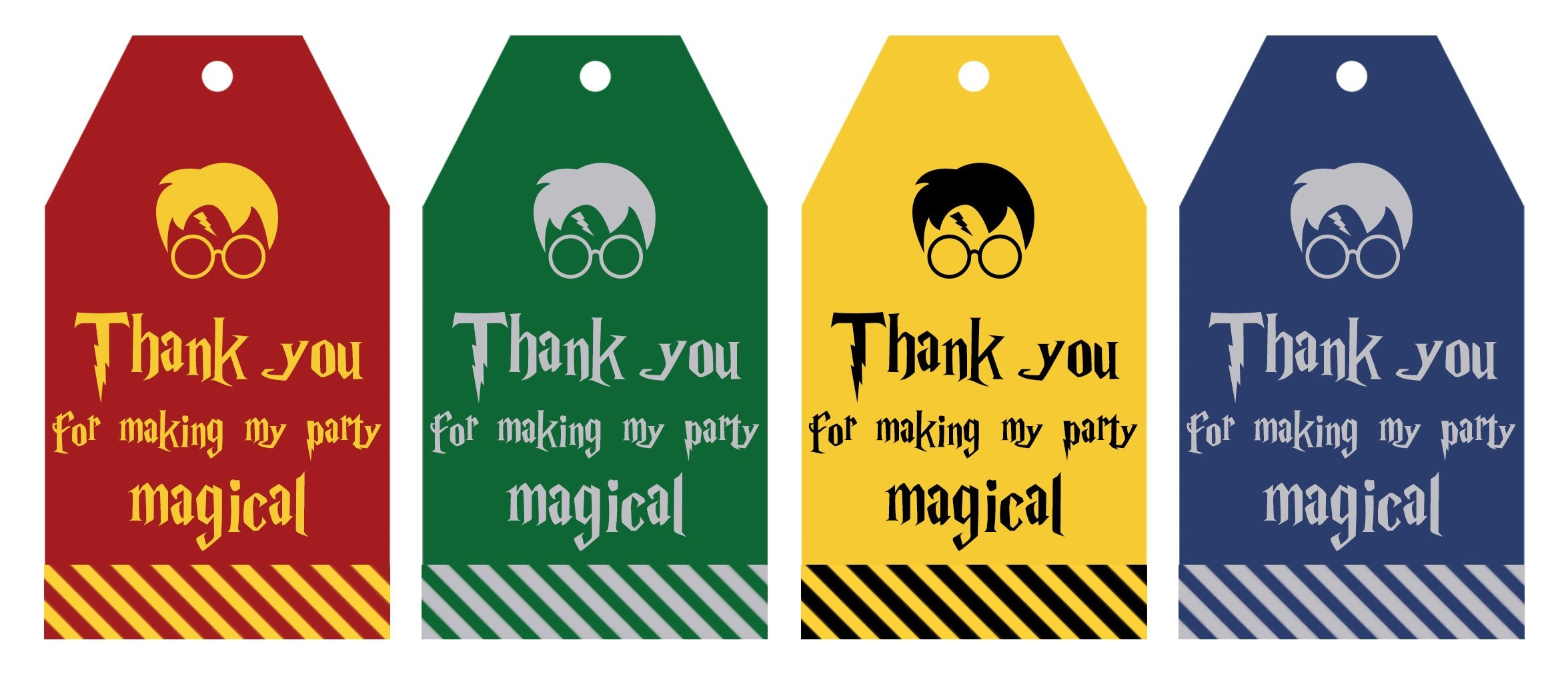 Free Printable Harry Potter Party Favor Gift Tags - Lovely Planner - Free Printable Thank You Tags For Birthdays