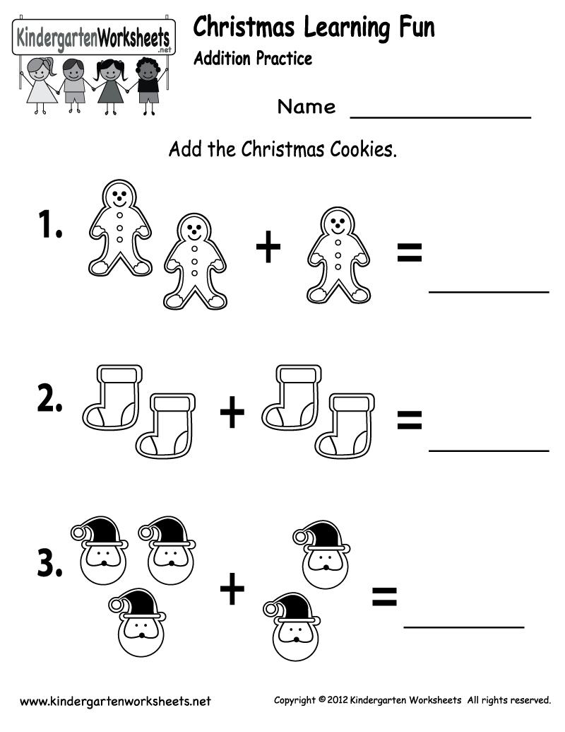 Free Printable Holiday Worksheets   Free Christmas Cookies Worksheet - Free Printable Pre K Worksheets