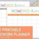 Free Printable: Homework Planner   Free Printable Homework