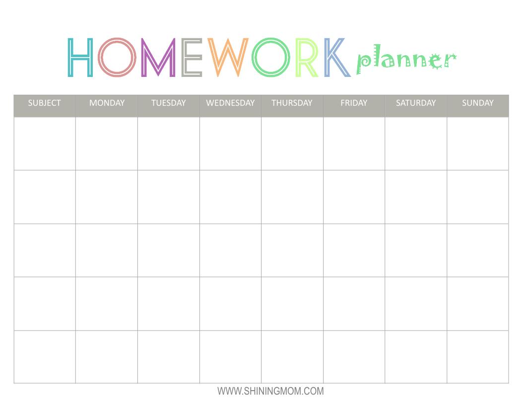 Free Printable: Homework Planner | Top Free Printables | Homework - Free Printable Homework
