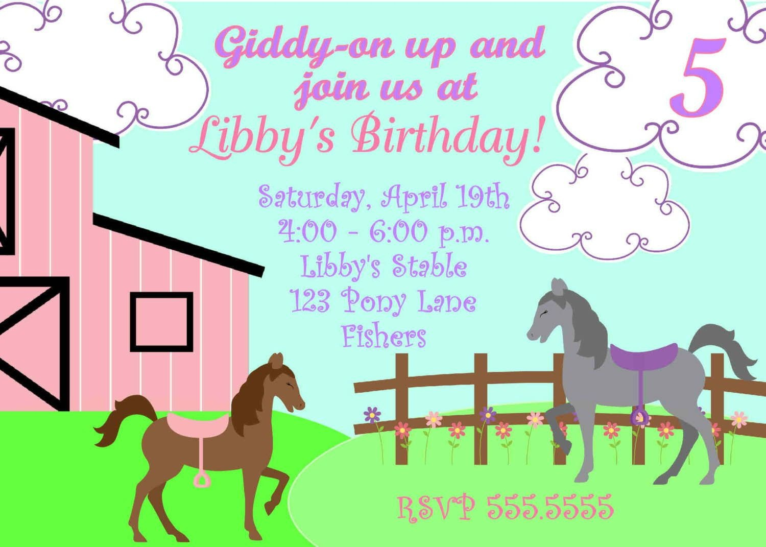 Free Printable Horse Party Invites | Horse Party Invitations - Free Printable Horse Themed Birthday Party Invitations