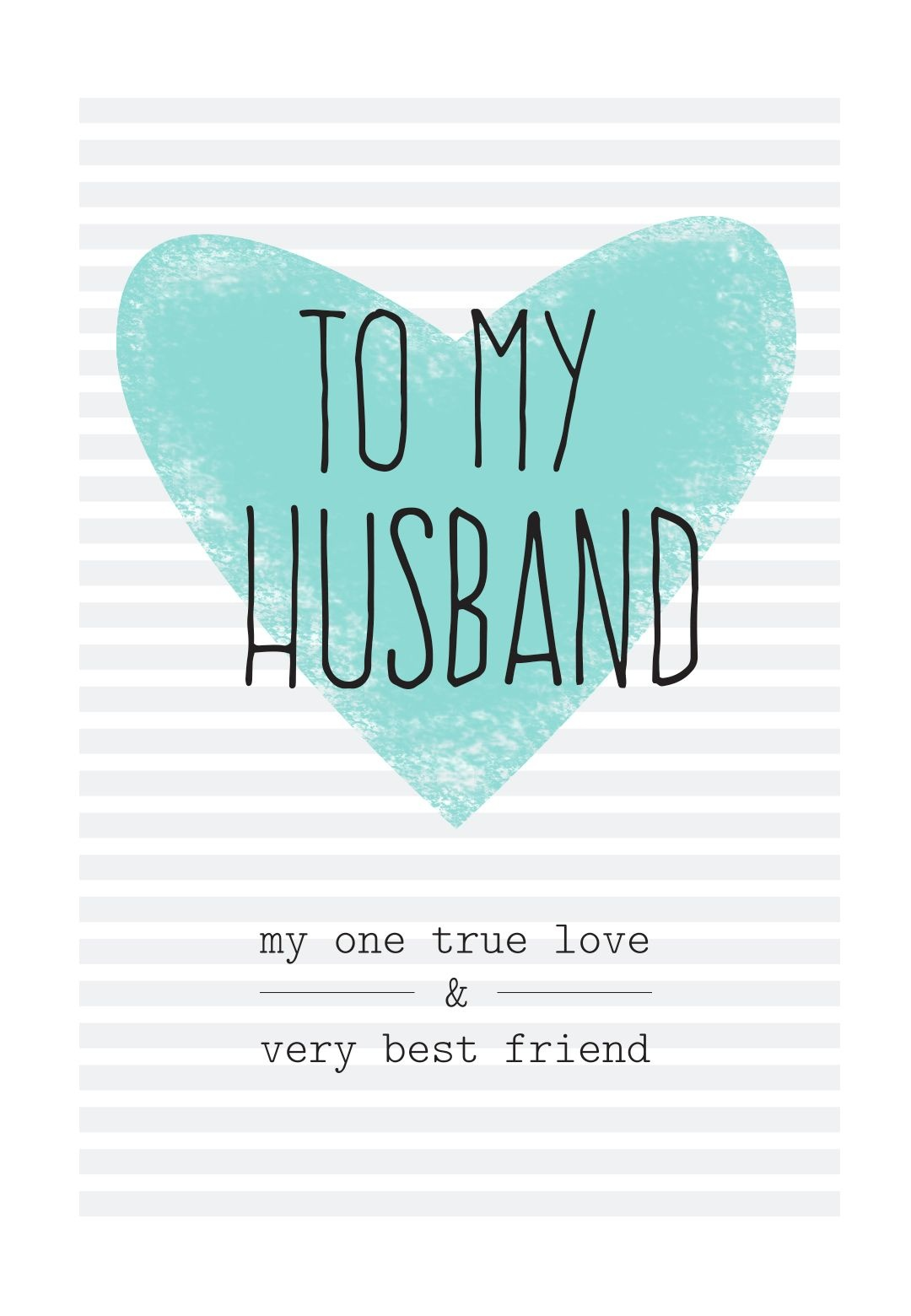 Free Printable Husband Greeting Card | Diy | Happy Birthday Husband - Free Printable Birthday Cards For Husband