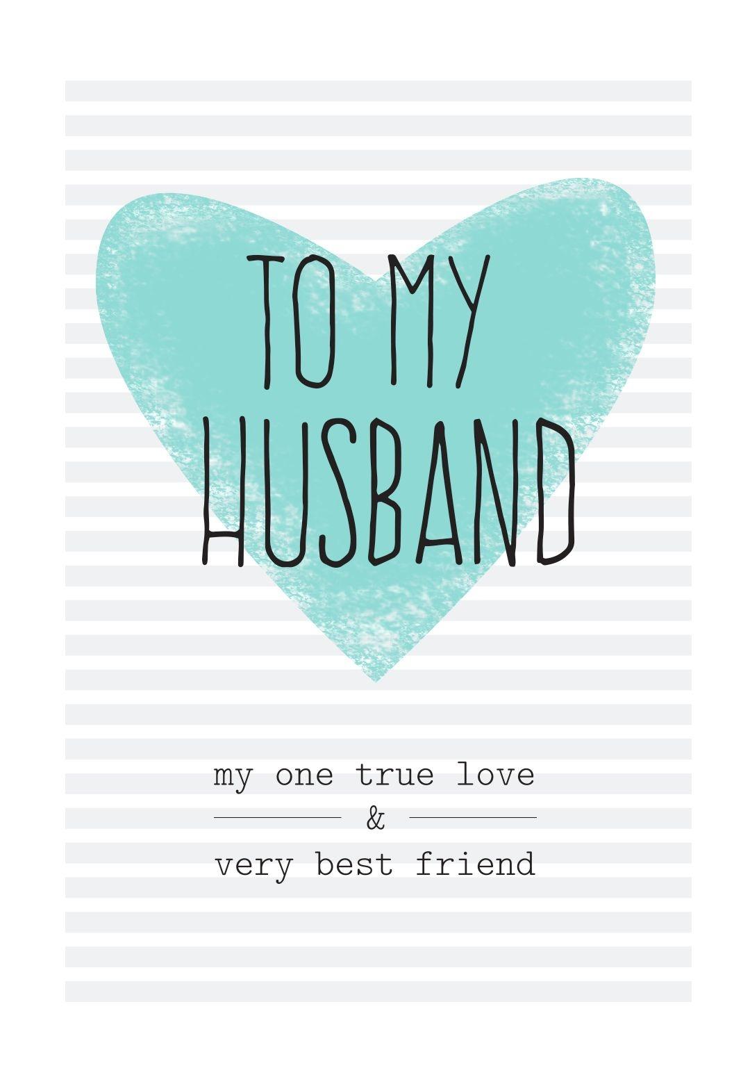 Free Printable Husband Greeting Card | Diy | Happy Birthday Husband - Free Printable Greeting Card Sentiments