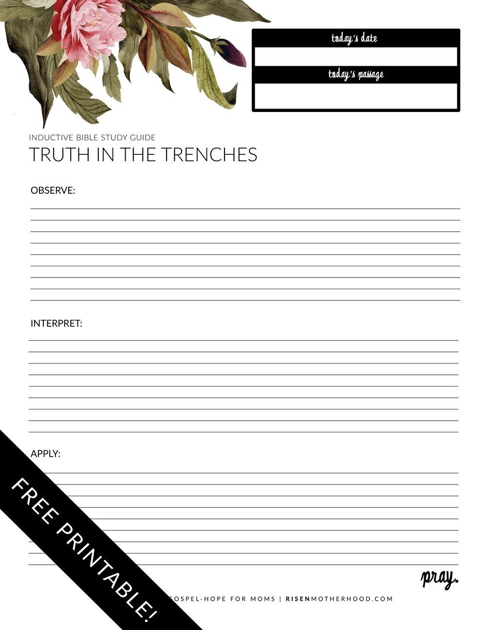 Free Printable: Inductive Bible Study Worksheets & Companion Card - Free Printable Bible Study Lessons With Questions And Answers