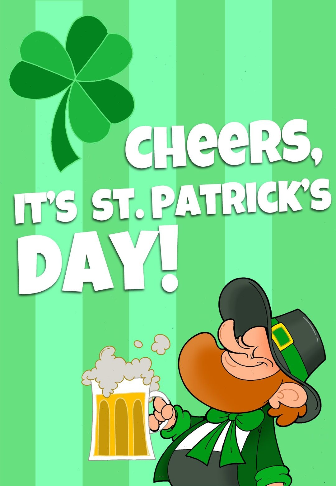 Free Printable 'its St Patricks Day' Greeting Card | Printable St - Free Printable St Patrick's Day Card