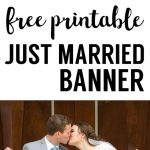 Free Printable Just Married Banner | Grad Party | Just Married   Just Married Free Printable